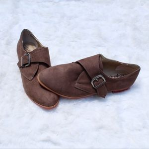 American Rag Taupe Monk Shoes With Ankle Strap
